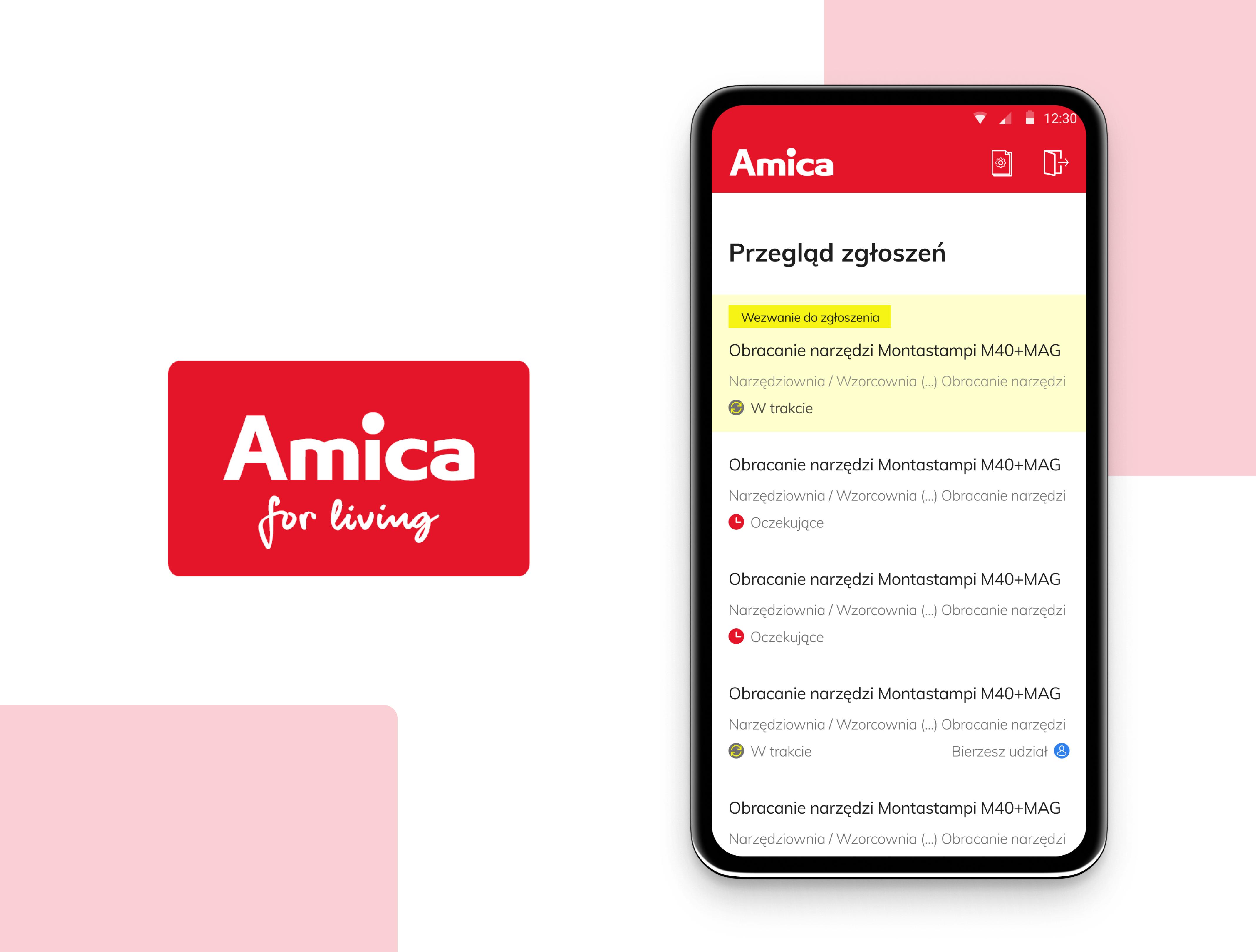 Utrzymanie ruchu w Amica-wdrożenie aplikacji AWARIE
